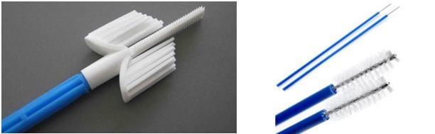 Рисунок 1 – Цитологические щетки (слева – комбинированная, справа – 2 цитологические щетки)